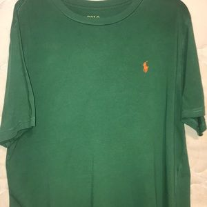 Green polo Ralf Lauren shirt. Size medium
